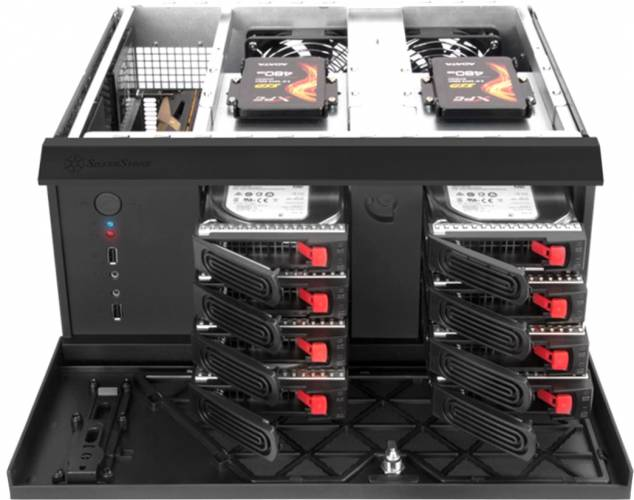 silverstone nas chassis cs381 baies