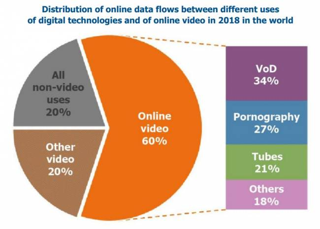 the shift project internet data repartition