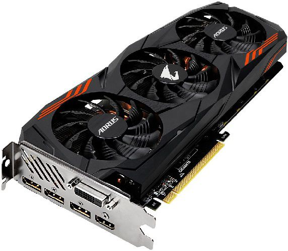 gigabyte aorus geforce gtx 1070 ti connectique
