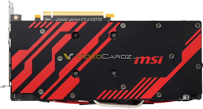 msi rx570 armor mk2 backplate vdcz