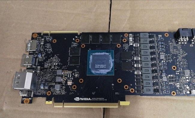 Un joli PCB de NVIDIA en fuite, bon ce TU104 ?