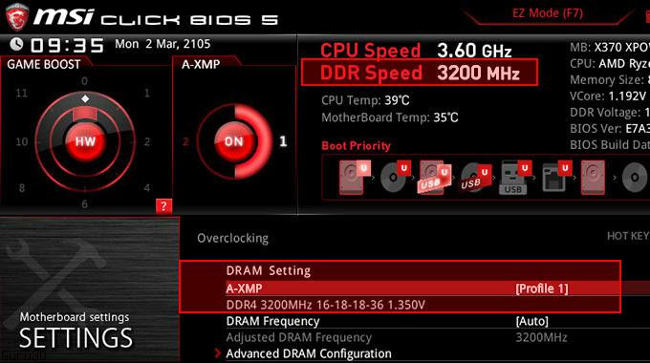 msi am4 bios axmp