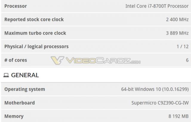 Le futur chipset Z390 bien compatible avec les Coffee Lake S