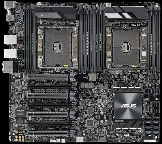 carte mere double processeur Une carte mère double Xeon LGA3647, c'est gigantesque !   Le
