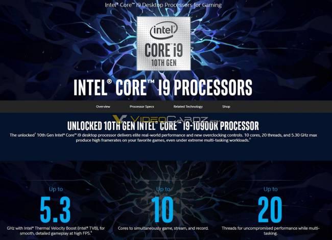 Toujours plus de CPU Comet Lake desktop en fuite !