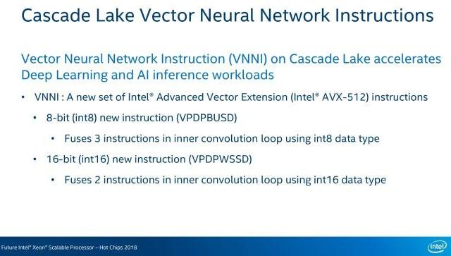 intel casacade lake instruction vnni hot chips 2018