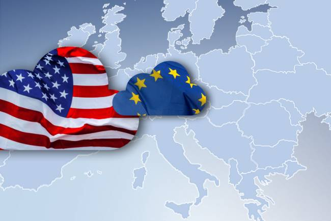 cloud europe americain drapeaux