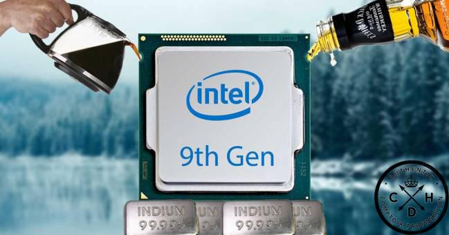 intel logo 9thgen coffee whiskey lake indium cdh