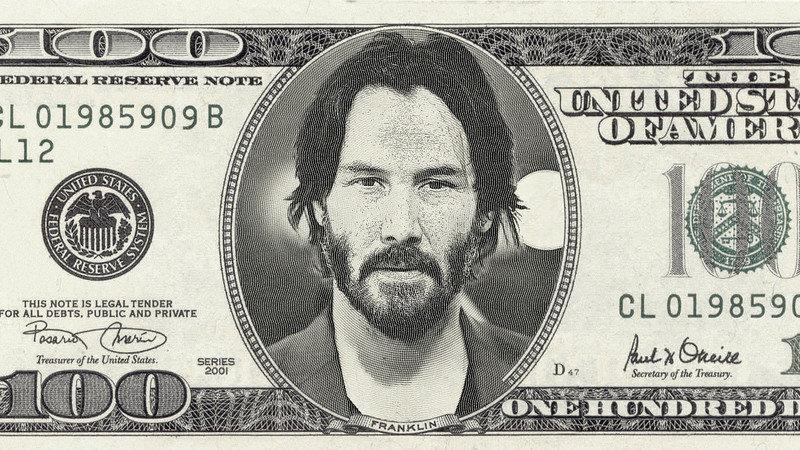 keanu reeves billet 100 dollars