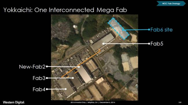 western digital toshiba joint venture fab map