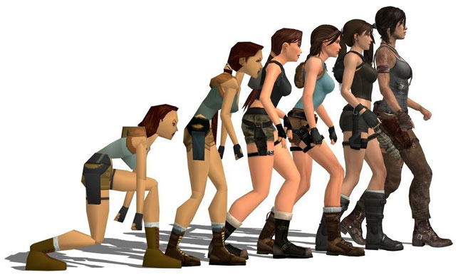 evolution lara croft