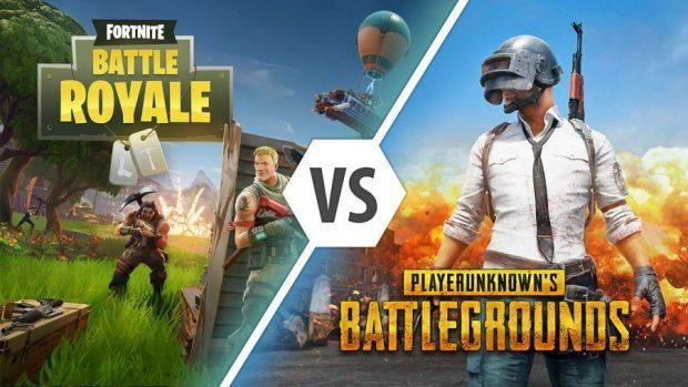 fortnite vs pubg battle royale