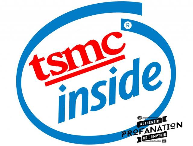intel logo tsmc inside