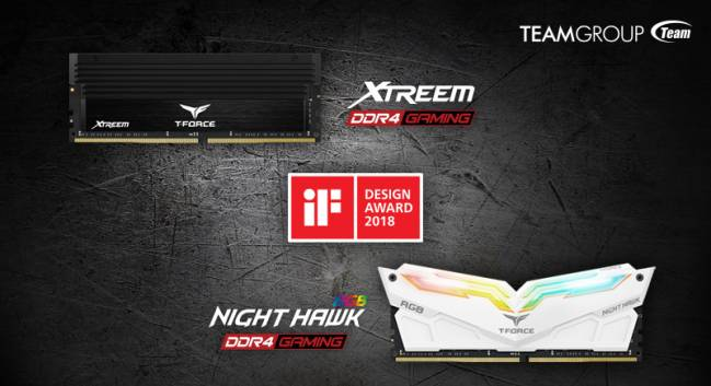 teamgroup ddr4 xtreem nighthawk if award 2018
