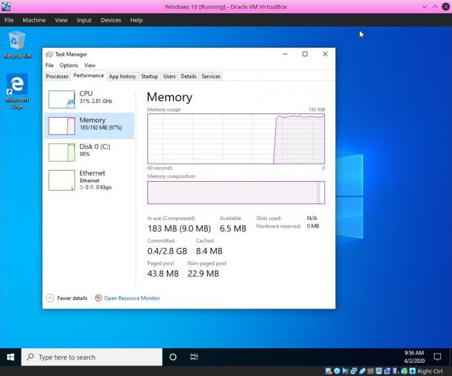 Windows 10 trop gourmand ? Tentez la version 32-bit sur 192 Mo de RAM !