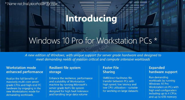 windows 10 pro workstation