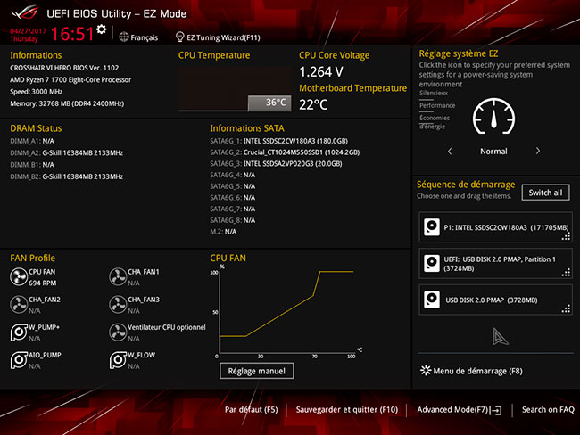 Asus Crosshair VI Hero : UEFI mode Ez